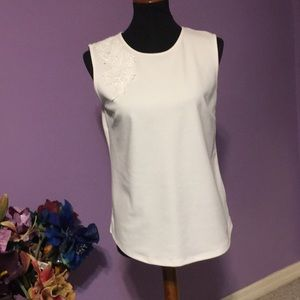 Ann Taylor White shell top